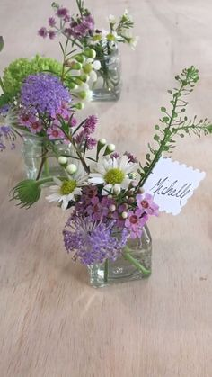 11 Easy DIYs for your Rustic Wedding - Make Wildflower Placecards