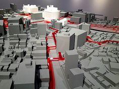 「SHIBUYA VISION」展 Maquette Architecture, Architecture Collage, Urban Architecture, Site Analysis Architecture, Architecture Presentation Board, Video Game Development, Arch Model, White Building, Map Design