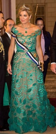 410d625c983 HM Queen Maxima at Ajuda Palace in Lisbon during the Dutch state visit to  Portugal -