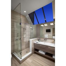 I love these skylights in the master bathroom!