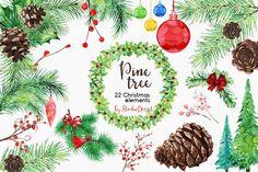 Pine Tree by StudioDesset on @creativemarket