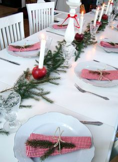 Tablesetting Tablescape  christmas xmas juldukning