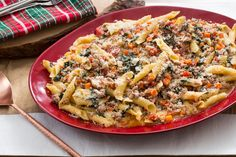 Recipe: Pork Bolognese with Garganelli Pasta, Lacinato Kale & Sage - Blue Apron Italian Meat Sauce, Italian Meats, Pork Dishes, Pasta Dishes, Pan Fried Pork Chops, Easy Weekday Meals, Lotsa Pasta, Easy Healthy Recipes, Healthy Meals