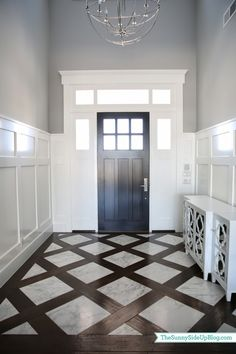 mixed plank floor chevron - Google Search