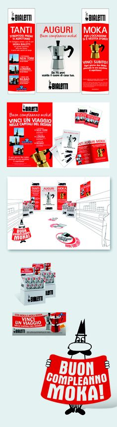Bialetti: instore promotion. Concept and artwork