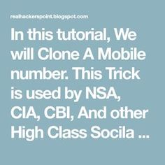 Mobile Number Cloning : How To Clone A Number Easily ! Iphone Life Hacks, Android Phone Hacks, Cell Phone Hacks, Smartphone Hacks, Life Hacks Websites, Hacking Websites, Useful Life Hacks, Windows 10 Hacks, Tech Hacks