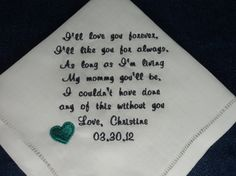 Gift for Mother of the Bride Custom by InspiredStitches on Etsy, $23.00