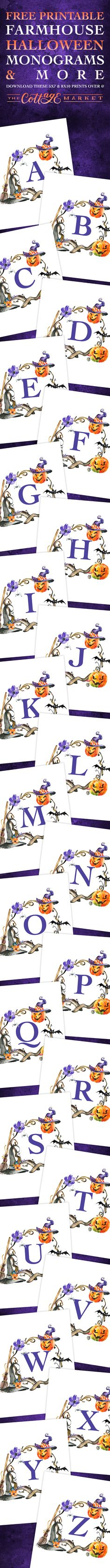 Hi there! It is once again Friday my friends and that means it is Free Printable Friday here at The Cottage Market! This week we are going to give you a head start on your Halloween Decorating with this full set of Free Printable Farmhouse Halloween Monograms and More! You can use these Framed to …