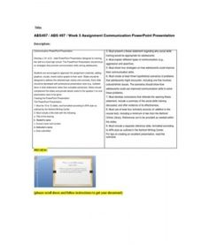 Communication PowerPoint Presentation  Develop a 10- to12-- slide PowerPoint Presentation designed for training the staff at a local high school. The PowerPoint Presentation should focus on strategies that promote communication skills among adolescents.  Students are encouraged… (More) Leadership Theories, Learning Theory, Parenting Styles, Communication Skills, Presentation Design, Adolescence, High School, Encouragement, Students