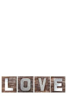 """These letters put together spell out love. The washed wood and flat sheet metal combination create a beautiful industrial look and feel to the product. This wall art is perfectly suited for any room in your house.<div class=""""pdpDescContent""""><BR /><b class=""""pdpDesc"""">Dimensions:</b><BR />L120xH29.5 cm</div>"""