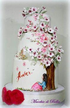 Japenese cherry blossom cake