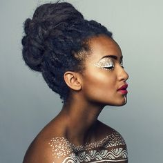 Natural hair in prot...