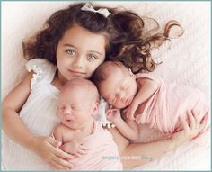 Sibling and newborn twins