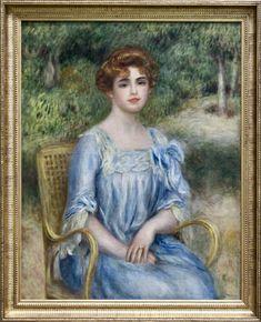 Pierre-Auguste Renoir (1841-1919) Madame Gaston Bernheim de Villers en 1901 huile sur toile H. 0.92 ; L. 0.73 musée d'Orsay, Paris (Le tableau a été peint à Fontainebleau en août 1901) RF 1951 29