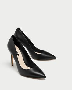 HIGH HEEL LEATHER COURT SHOES from Zara