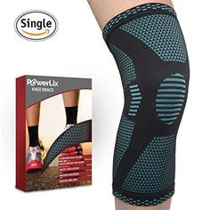 PowerLix Athletics Knee Compression Sleeve Support For Running Jogging Sports Basketball Joint Pain Relief Arthritis And Injury Recovery Breathable Knee Brace Improved Circulation - Single Wrap Acl Brace, Knee Brace, Knee Sleeves Basketball, Knee Compression Sleeve, Running Injuries, Knee Pain, Sports Basketball, Braces, Arthritis