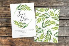 Olive Branch Save The Date — Hawthorne and Ivory Wedding Invitation Design, Wedding Stationery, Olive Branch Wedding, Menu Cards, Save The Date, Place Cards, Wedding Day, Dating, Ivory