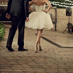 Eclectically Beautiful Wedding: Chic & Unique Bridal Style - Bridal Musings Wedding Blog. @ChristyRobe - I like the short dress, it's fun :)
