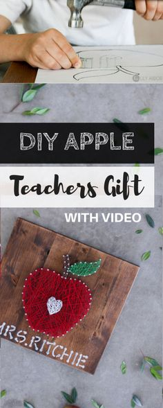 Teachers Gift ( DIY Apple) (WITH VIDEO) Teacher Appreciation Gift. Last week was teacher appreciation week and it got me to thinking… Teacher's sure have a lot of patients! I couldn't last a day in their shoes let alone a whole year Teacher Gifts From Class, Homemade Teacher Gifts, Teachers Day Gifts, Presents For Teachers, Teacher Christmas Gifts, Teacher Appreciation Gifts, Gift Ideas For Teachers, Teacher Video, Preschool Teacher Gifts