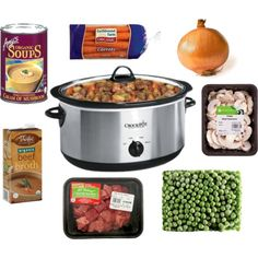 The Chirping Moms: Friday Favorites: Easy Crock Pot Light Beef Stew-- minus the cream of mushroom soup...