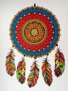 Kleurplaat met Stabilo pen 68