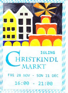 Created by Helena Clulee - xmas market poster