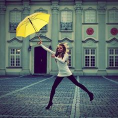 If I ever live somewhere rainy, I WILL own the neon yellow umbrella from How I Met Your Mother.