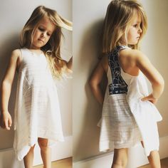 Girls casual racer back cover up / dress Cover Up, White Dress, Casual, Girls, Baby, Dresses, Fashion, Vestidos, Moda