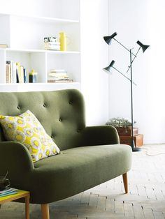 This Wilmot wing backed sofa from Habitat at Argos Argos combines elegant, timeless design with quality fabric.
