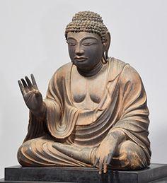 国宝 木造弥勒仏坐像 平安時代・9世紀 奈良・東大寺 - Google 検索