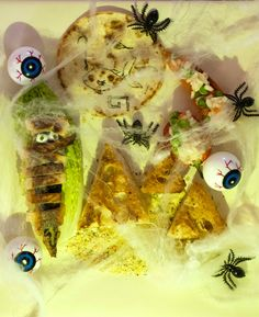 Mackerel Mummies - This is a great little idea for a spooky ancient-Egyptian-themed lunchbox treat around Halloween! Fish Recipes, Great Recipes, Uk Recipes, Mackerel Recipes, Healthy Protein, Fish Dishes, The Dish, Egyptian, Seafood