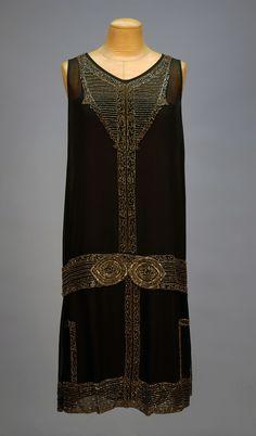 Beaded chiffon dress 1920's
