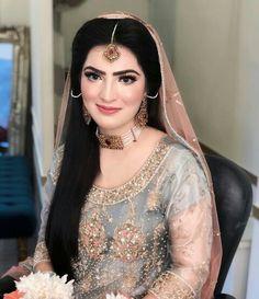 Beautiful Pakistani Bridal Makeup, Bridal Mehndi Dresses, Bridal Hijab, Pakistani Wedding Outfits, Pakistani Couture, Bridal Makeup Looks, Bridal Looks, Bridal Style, Asian Wedding Dress