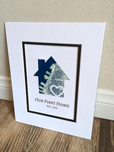 Our First Home- Personalized Home Map Matted Gift- First Home Gift- New House Housewarming Gift- Gift for Families, Just Because Gift First Home Gifts, New Home Gifts, House Map, Client Gifts, Just Because Gifts, Custom Map, First Time Home Buyers, Thoughtful Gifts, House Warming