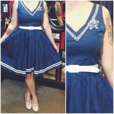 The nautical wonder you've been searching for is here! #blamebetty #nautical #dress