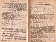 Manuels anciens: Rikki-tikki-tavi - Rudyard Kipling, Le Livre de la Jungle (Marcel Berry 1938 - Littérature CM)
