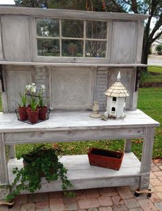 Potting bench ~ One Shabby Old House: Bench Bliss