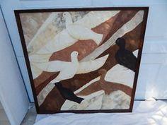 Mid Century Modern Stephen Kaye Textured Abstract Birds Art Oil Painting   eBay