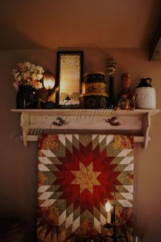 Quilt and shelf!