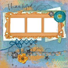 "Copper Blossom Paperie: Free 12""x12"" Scrapbook Quick Page - Thankful"