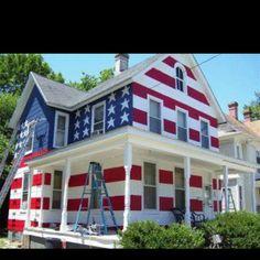 American flag house :)