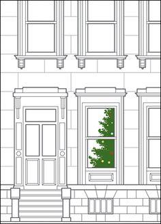 Tree in Window by Ziti Cards!