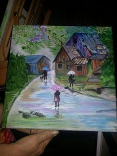"Water color ""In the rain"""