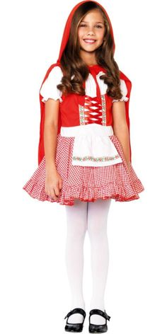 Girls Lil Miss Red Riding Hood Costume - Party City