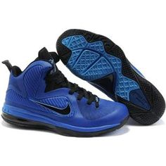 brand new 04e66 978e8 Nike Air Foamposite Shoes Nike LeBron 9 Blue Black  Nike LeBron 9 - Modern Nike  LeBron 9 Blue Black shoes are characterized with cool black tongue which ...