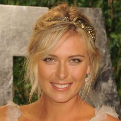 Wedding Hairstyles: Updos One of the easiest ways to dress up a simple, tousled bun is to add a pretty garland the way Maria Sharapova did at the 2012 Oscars.