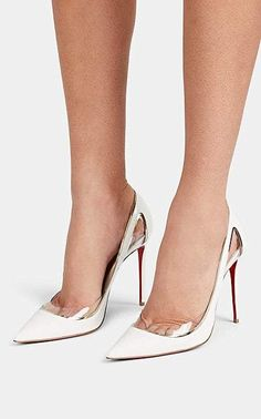 5a1023734eb Christian Louboutin Cosmo 554 Patent Leather   PVC Pumps