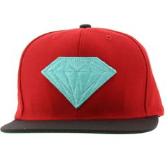 Diamond Supply Co Emblem Snapback Cap (red / black) EMBLEMSBRDBK - $39.99