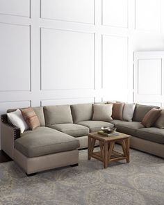 Clayton Three Piece Sectional At Horchow. Leather SofasLiving ...