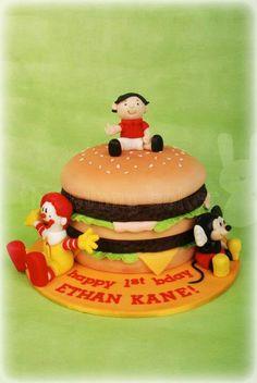 Mc donald burger cake by the bunny baker